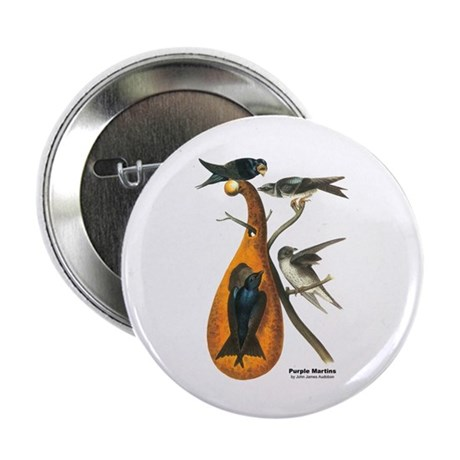 "Audubon Purple Martins Bird 2.25"" Button (10 pack)"