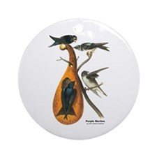 Audubon Purple Martins Bird Ornament (Round)