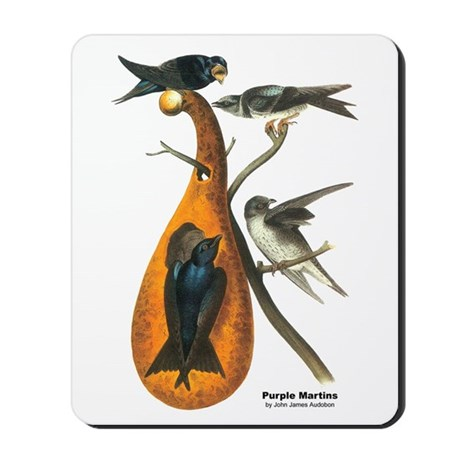 Audubon Purple Martins Bird Mousepad