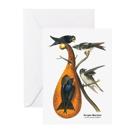 Audubon Purple Martins Bird Greeting Cards (Pk of
