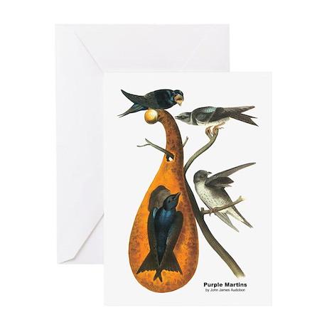 Audubon Purple Martins Bird Greeting Card