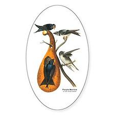 Audubon Purple Martins Bird Oval Decal