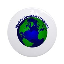 World's Greatest Lifeguard Ornament (Round)
