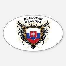 Number One Slovak Grandpa Oval Decal