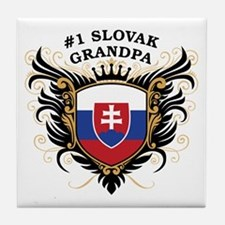 Number One Slovak Grandpa Tile Coaster
