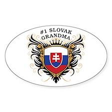 Number One Slovak Grandma Oval Decal