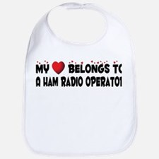 Belongs To A Ham Radio Operator Bib