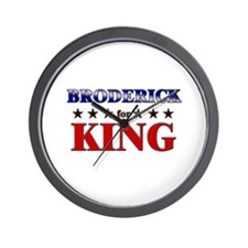 BRODERICK for king Wall Clock