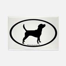 Beagle Dog Oval Rectangle Magnet