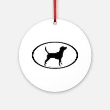 Beagle Dog Oval Ornament (Round)