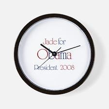 Jade for Obama 2008 Wall Clock