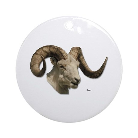 Ram Sheep Horn Keepsake (Round)