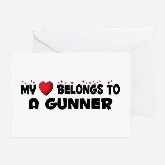 Belongs To A Gunner Greeting Card