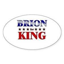 BRION for king Oval Decal