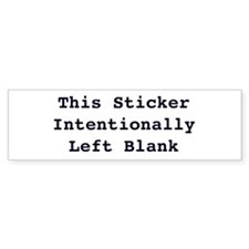 Left Blank Bumper Sticker
