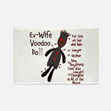 Ex-Wife Voodoo Doll Rectangle Magnet