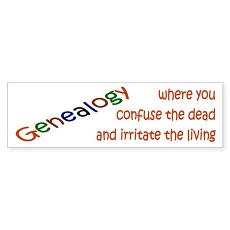 Genealogy Confusion (red) Bumper Sticker