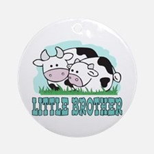 Cows Little Brother Ornament (Round)