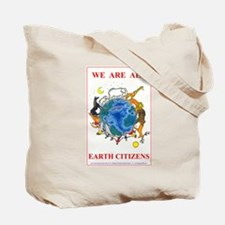 EARTH CITIZEN HAND-SHAKE & Sign Tote Bag