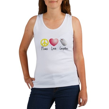 Peace, Love, and Computers Women's Tank Top