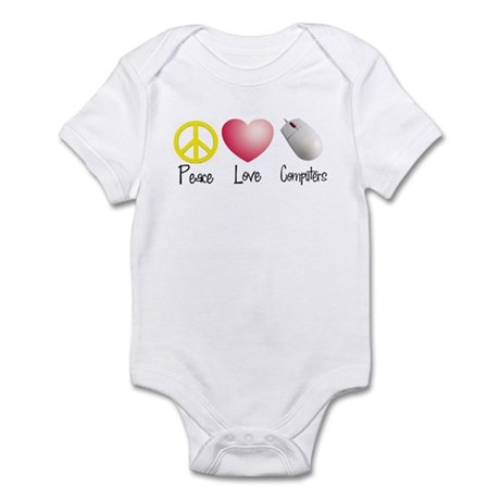 Peace, Love, and Computers Infant Bodysuit
