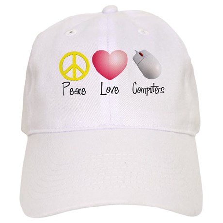 Peace, Love, and Computers Cap