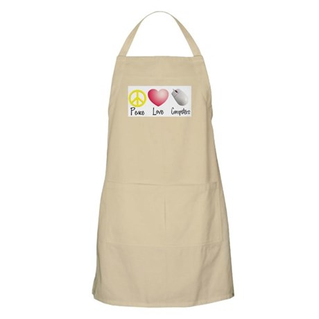 Peace, Love, and Computers BBQ Apron