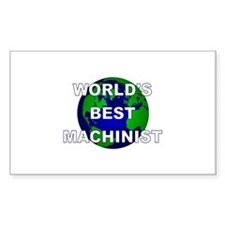 World's Best Machinist Rectangle Decal