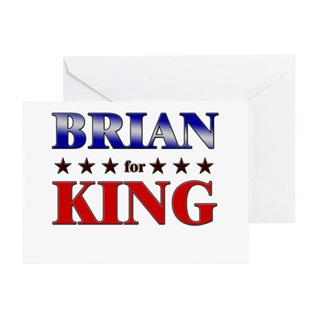 BRIAN for king Greeting Card