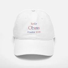 Kari for Obama 2008 Baseball Baseball Cap