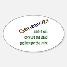 Genealogy Confusion (gre) Oval Decal