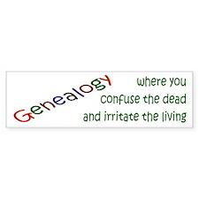 Genealogy Confusion (gre) Bumper Bumper Sticker