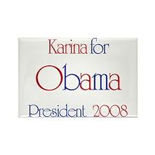 Karina for Obama 2008 Rectangle Magnet