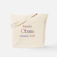 Karina for Obama 2008 Tote Bag