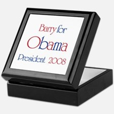 Barry for Obama 2008 Keepsake Box