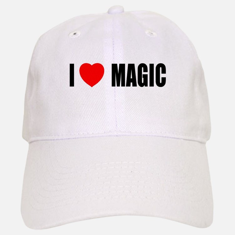 I Love Magic Baseball Baseball Cap