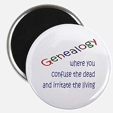 Genealogy Confusion (blue) Magnet