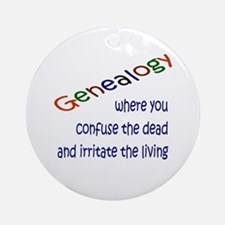 Genealogy Confusion (blue) Ornament (Round)
