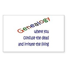 Genealogy Confusion (blue) Rectangle Decal