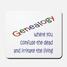 Genealogy Confusion (blue) Mousepad