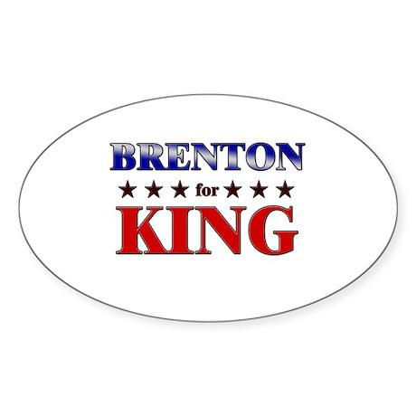 BRENTON for king Oval Sticker