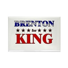 BRENTON for king Rectangle Magnet