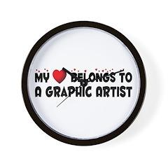Belongs To A Graphic Artist Wall Clock