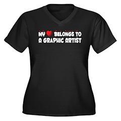 Belongs To A Graphic Artist Women's Plus Size V-Ne