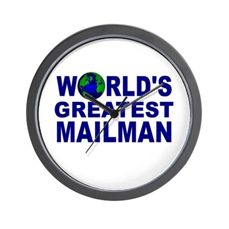 World's Greatest Mailman Wall Clock