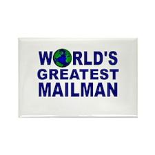 World's Greatest Mailman Rectangle Magnet