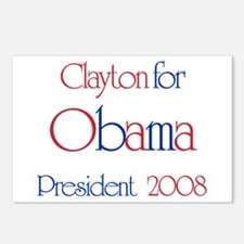 Clayton for Obama 2008 Postcards (Package of 8)