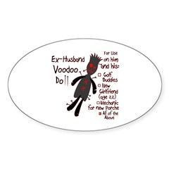 Ex-Husband VooDoo Doll Oval Decal