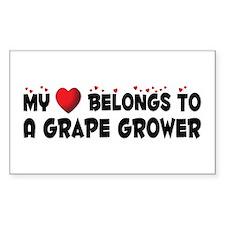 Belongs To A Grape Grower Rectangle Decal