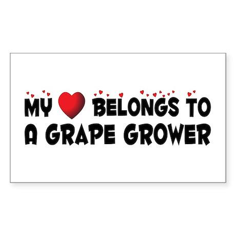 Belongs To A Grape Grower Rectangle Sticker